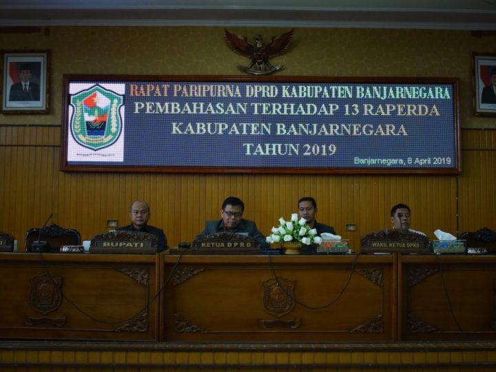 Pembahasan 13 Raperda Kabupaten Banjarnegara