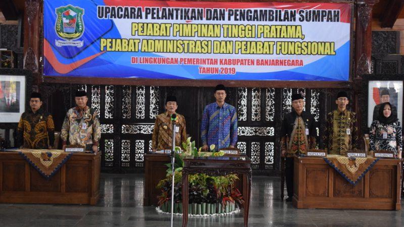 Pelantikan Pejabat di Lingkungan Pemda Banjarnegara