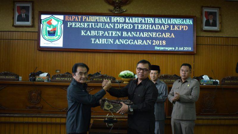Persetujuan DPRD Terhadap LKPD Kabupaten Banjarnegara Tahun Anggaran 2018