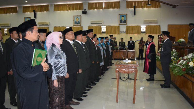 Pengucapan Sumpah/Janji Anggota DPRD Kabupaten Banjarnegara Masa Jabatan 2019-2024