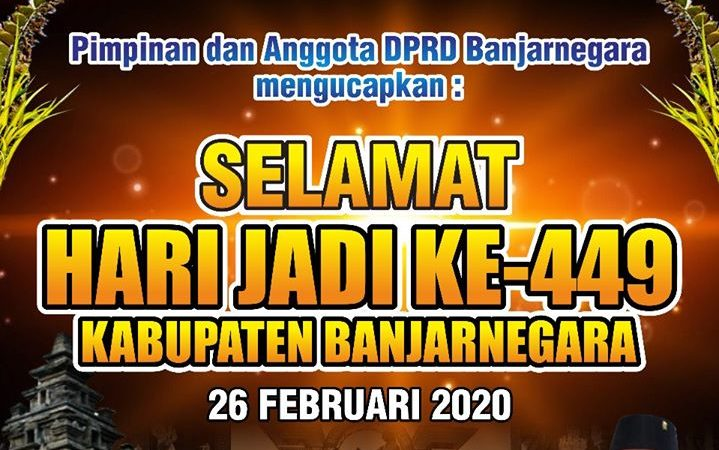 SELAMAT HARI JADI BANJARNEGARA YANG KE 449