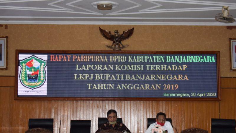 RAPAT PARIPURNA PEMBAHASAN LKPJ BUPATI TA 2019
