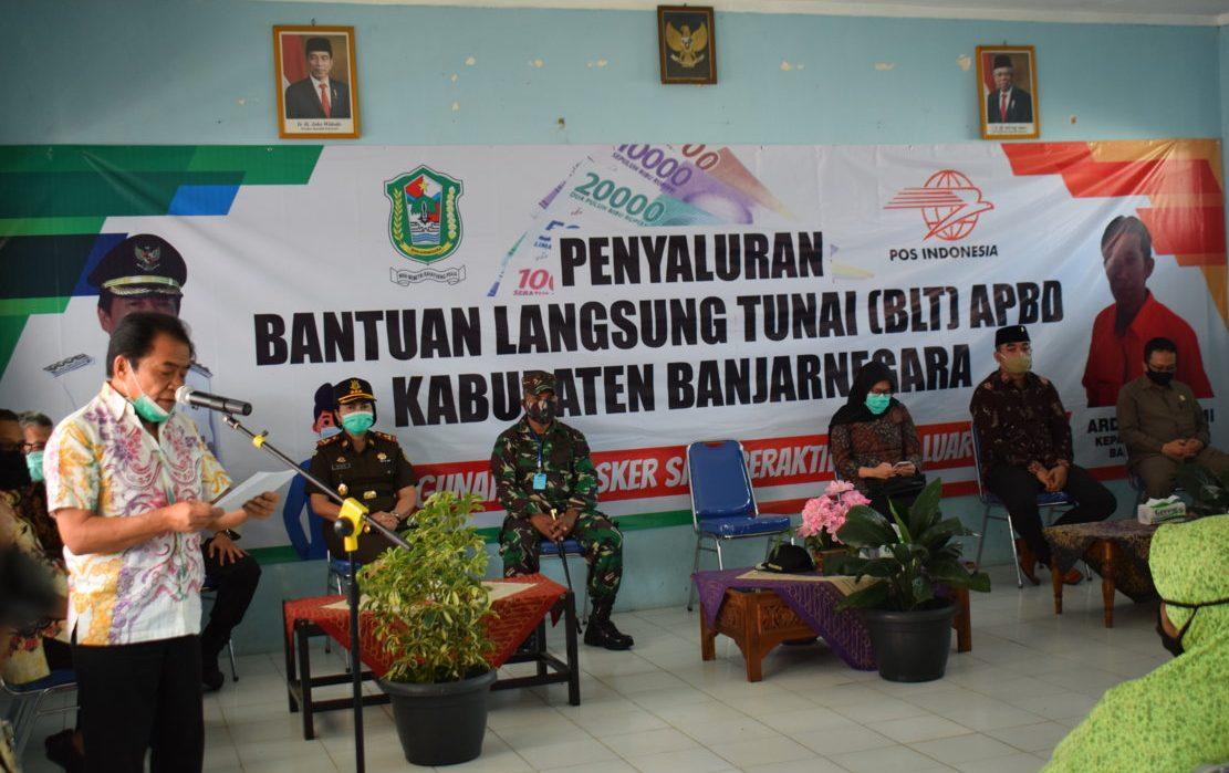 Ketua DPRD Hadiri Launching Penyaluran Bantuan Langsung Tunai (BLT) APBD Kab. Banjarnegara