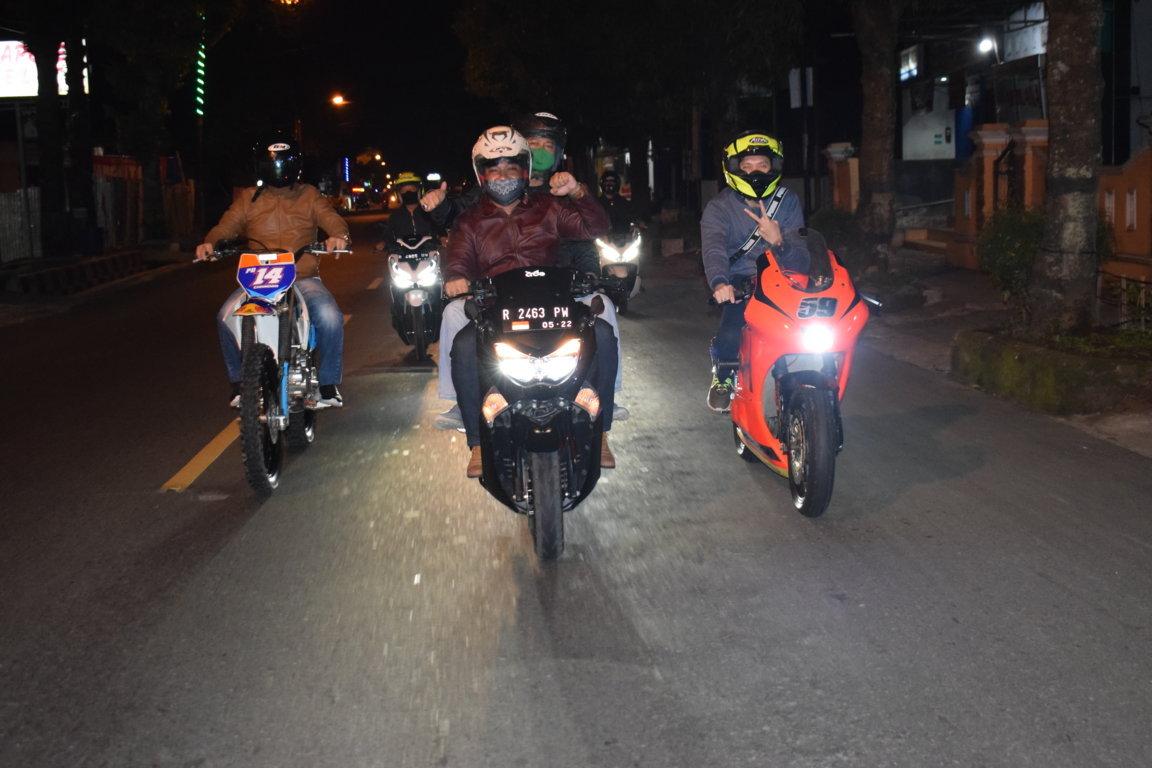 Night Riding sosialisasi Perbup tentang Penerapan Disiplin dan Penegakan Hukum Protokol Kesehatan