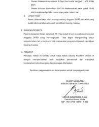 Pengumuman Pelaksanaan Reses Masa Persidangan II (Dua) Tahun 2021 DPRD Kabupaten Banjarnegara